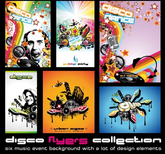 music banner templates modern colorful dynamic design