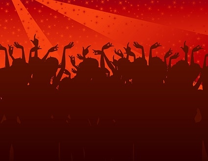 the trend of party figures silhouette vector