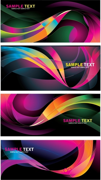 decorative background templates colorful dynamic curved lines decor