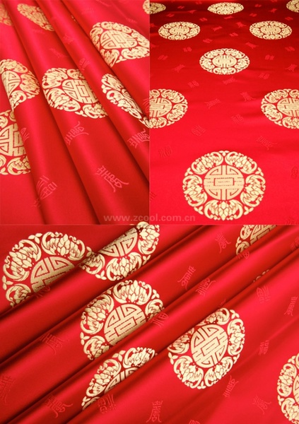 the wufu shou chinese fabric background hd photo 3p