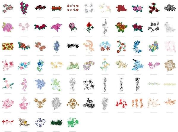 theme flower pattern vector fashion 71 models