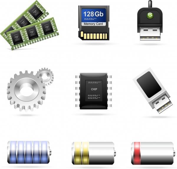 theme icon vector computer accessories