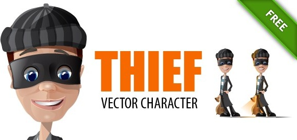 Thief vector characters Free vector in Adobe Illustrator ai
