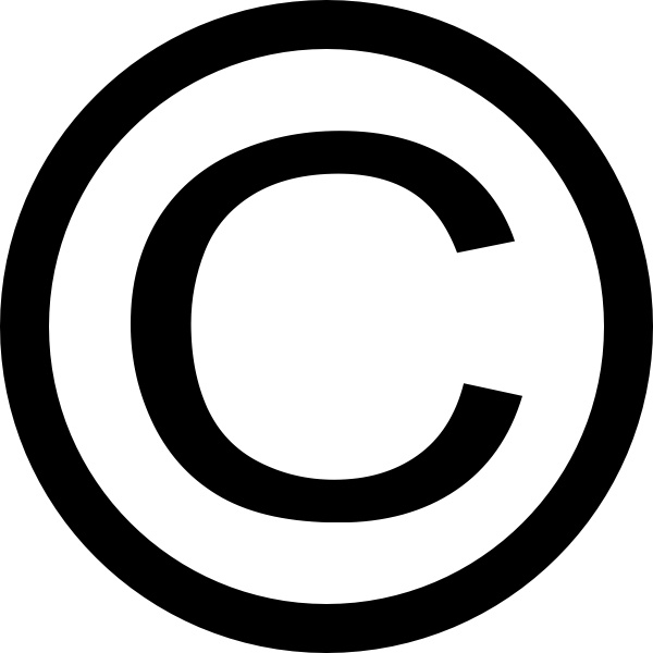 Thin Copyright Symbol Clip Art Free Vector In Open Office Drawing