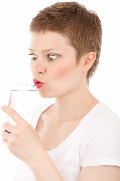 thirsty young woman