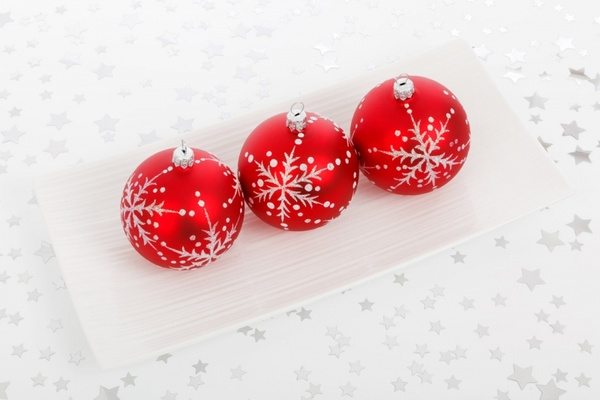 three bauble decorations