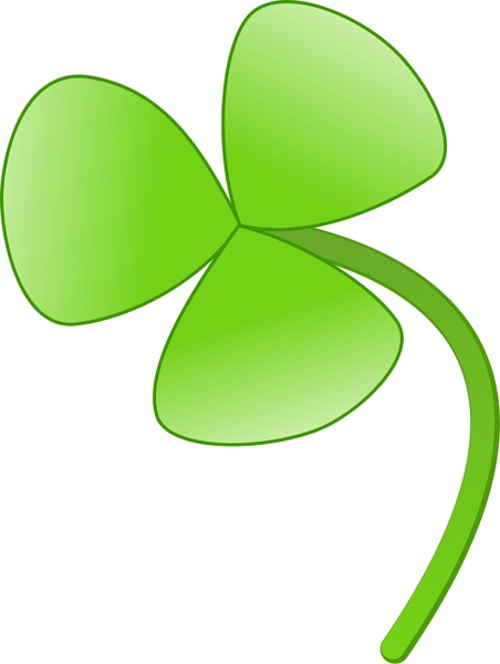 Three Leaves Clover Free Vector In Open Office Drawing Svg Svg