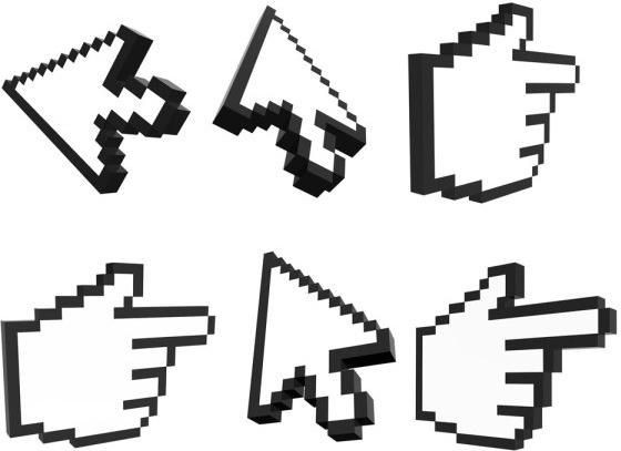 threedimensional arrow gesture icon psd layered