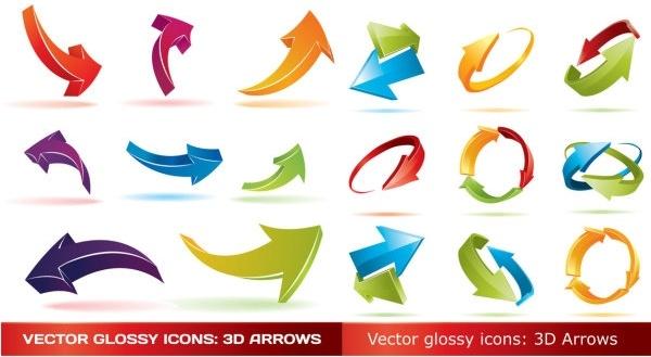 threedimensional arrow vector