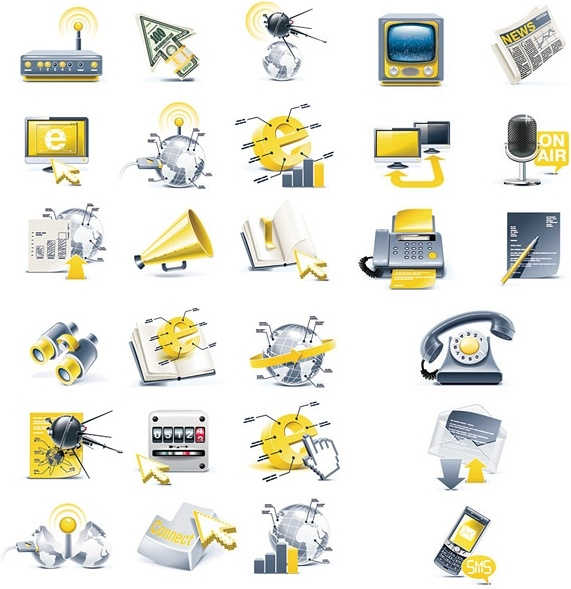 threedimensional icon vector science and technology topics