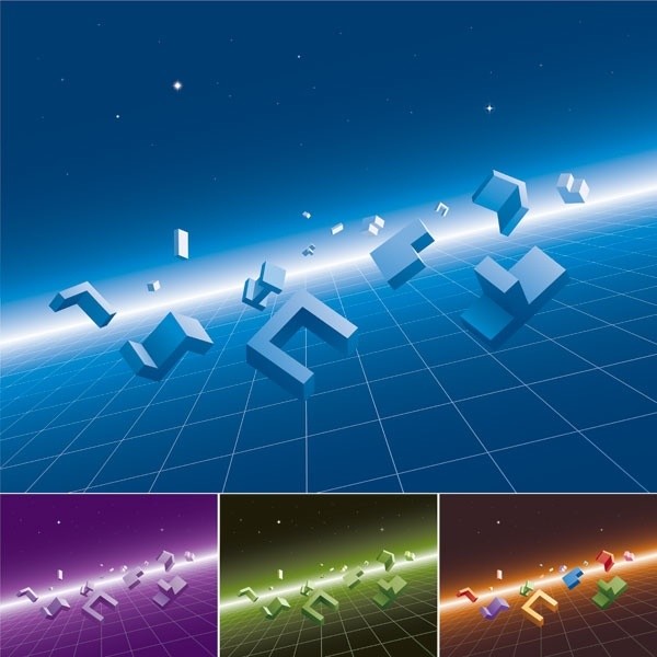 threedimensional sense of space modules and vector background