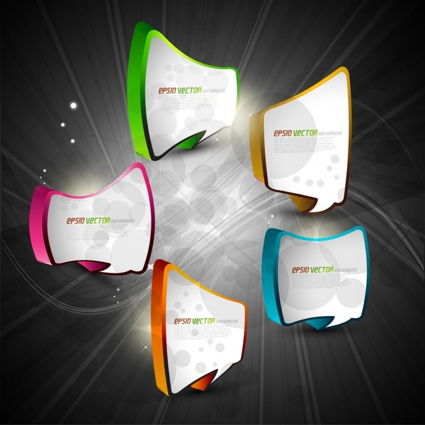 speech bubble templates modern colored 3d design