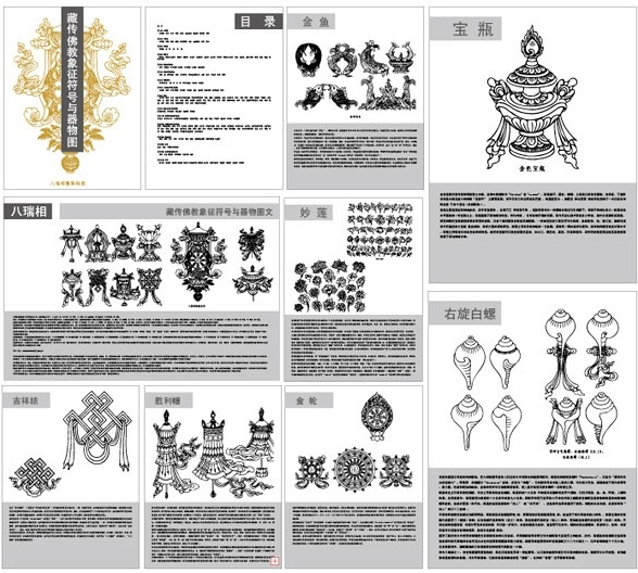 Tibetan Buddhist Symbols And Objects Map One Eight Rui Phase Vector