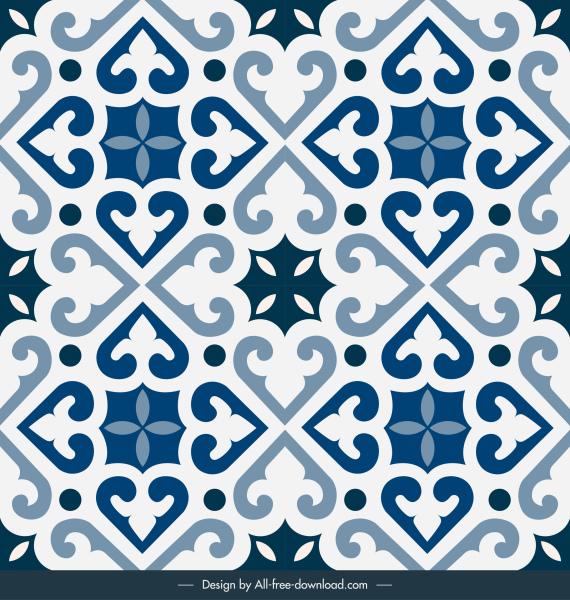 tile pattern background elegant european symmetric decor
