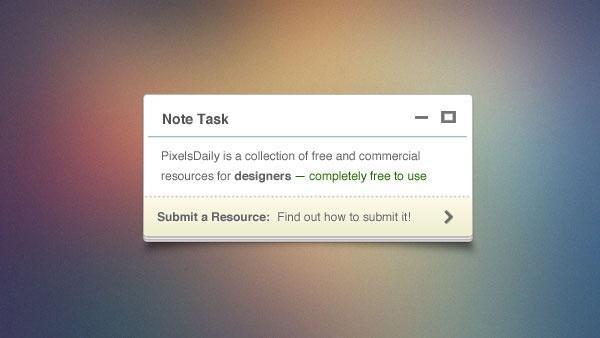 Tiny Note PSD