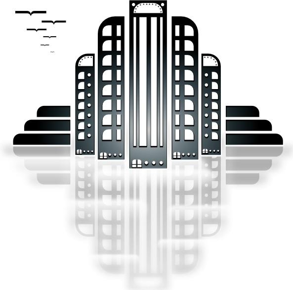 Tiothy City Art Deco clip art
