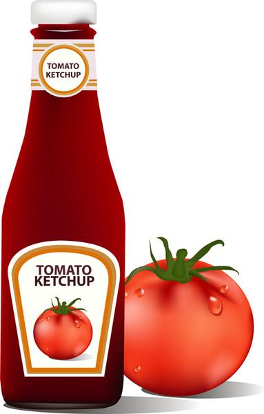 tomato ketchup creative design vector