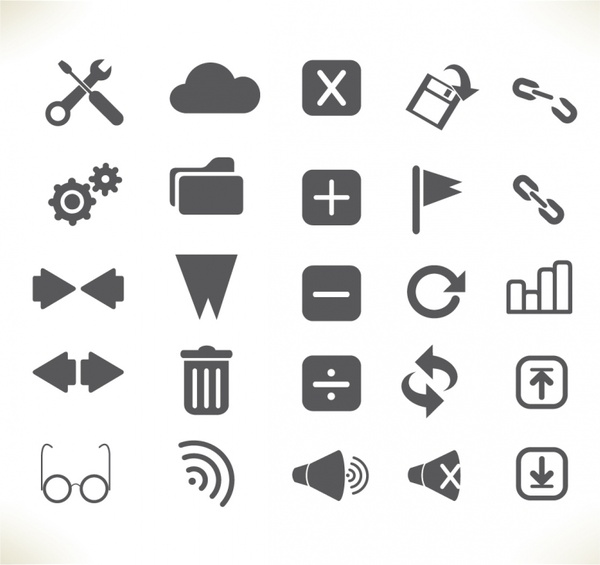 Toolbar  Interface icons