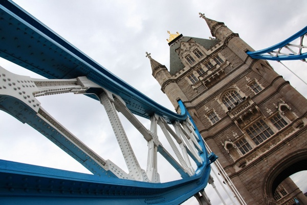tower bridge in angle