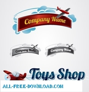 Toy Plane Logo Collection Free Vector In Adobe Illustrator Ai Ai