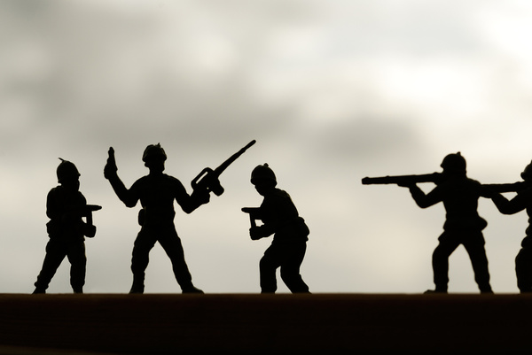 toy soldiers silhouette