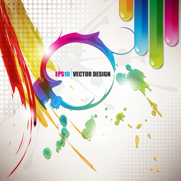 traces of paint splatter background vector