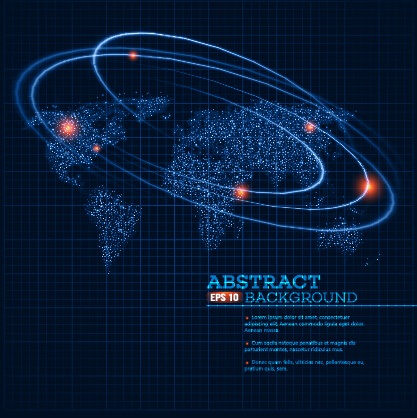 track universe planet vector background