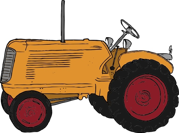 tractor clip art free vector in open office drawing svg ( .svg