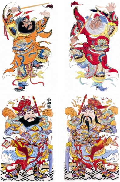 traditional chinese door god fortuna hd picture 2