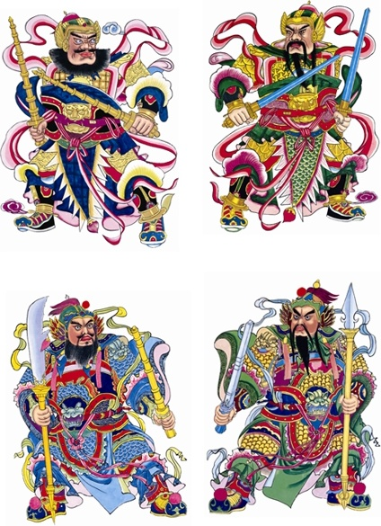 traditional chinese door god fortuna hd picture 3