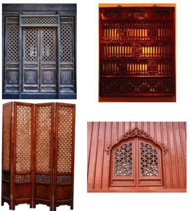 traditional latticed windows psd