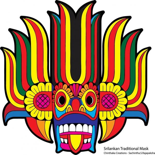 Sri Lankan Traditional Art Abstract
