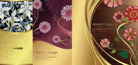 flowers background templates elegant colorful petals decor