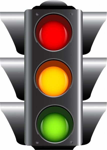 traffic lights free vector in adobe illustrator ai ai