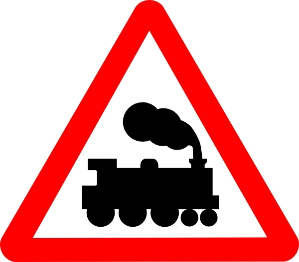 train road signs clip art free vector in open office drawing svg