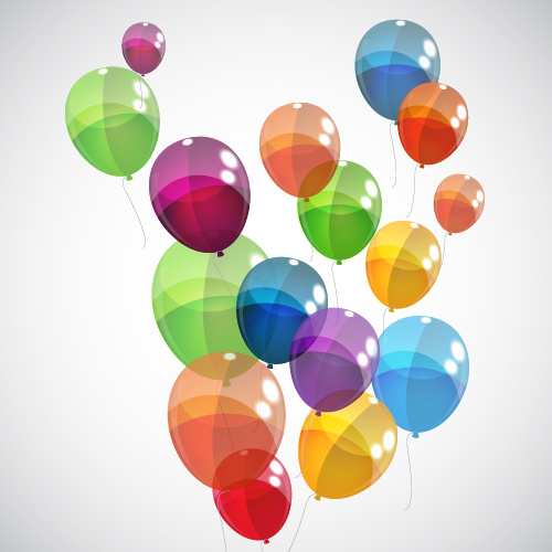 transparent colored balloons vector background free vector in
