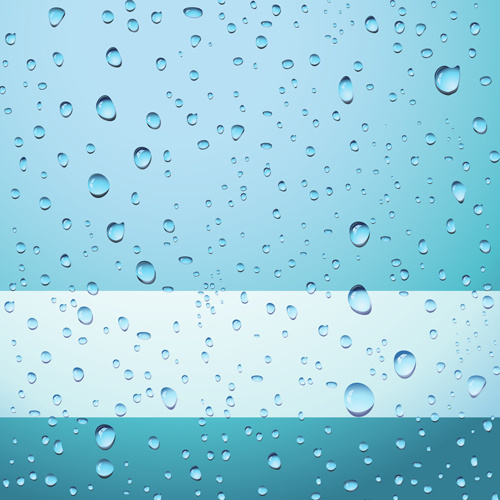 transparent water drops design background vector