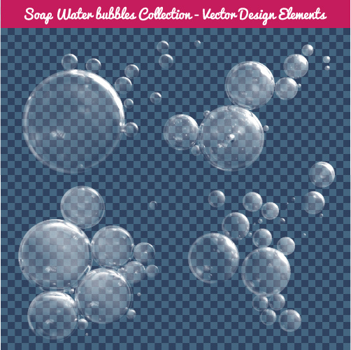 transparent water drops illustration vector