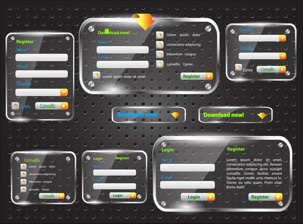 transparent web form set
