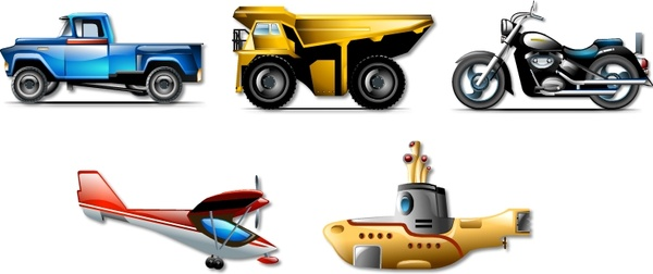 Transportation brilliant icons icons pack