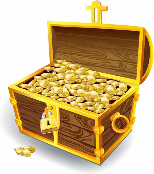 treasure chest free vector in adobe illustrator ai ai