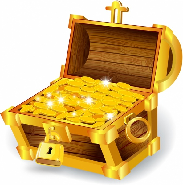 Free Treasure Chest Clipart: Treasure Chest Free Vector Download (133 Free Vector) For