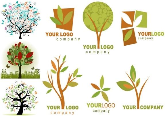 trees theme vector