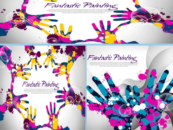 trend background color ink handle layered