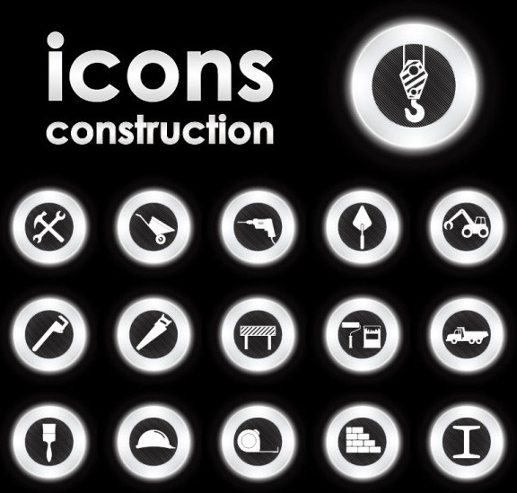 trend circular icon 03 vector