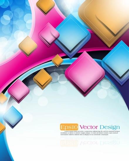 decorative background bright colorful bokeh geometric design