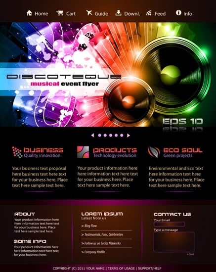 Trend Dynamic Web Template Vector Free Vector In Encapsulated - Dynamic web template