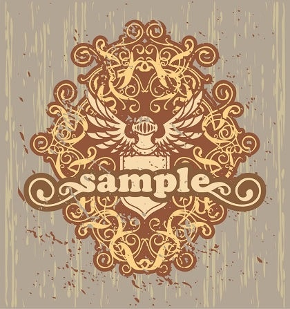 logo design set retro royal style decoration