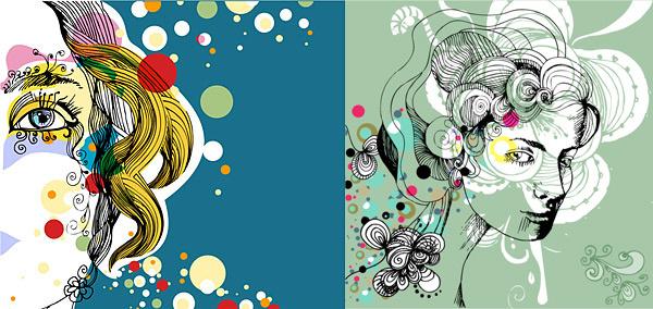trend of female illustrator vector