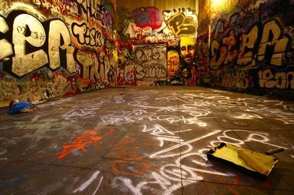 trend of graffiti wall stock photo